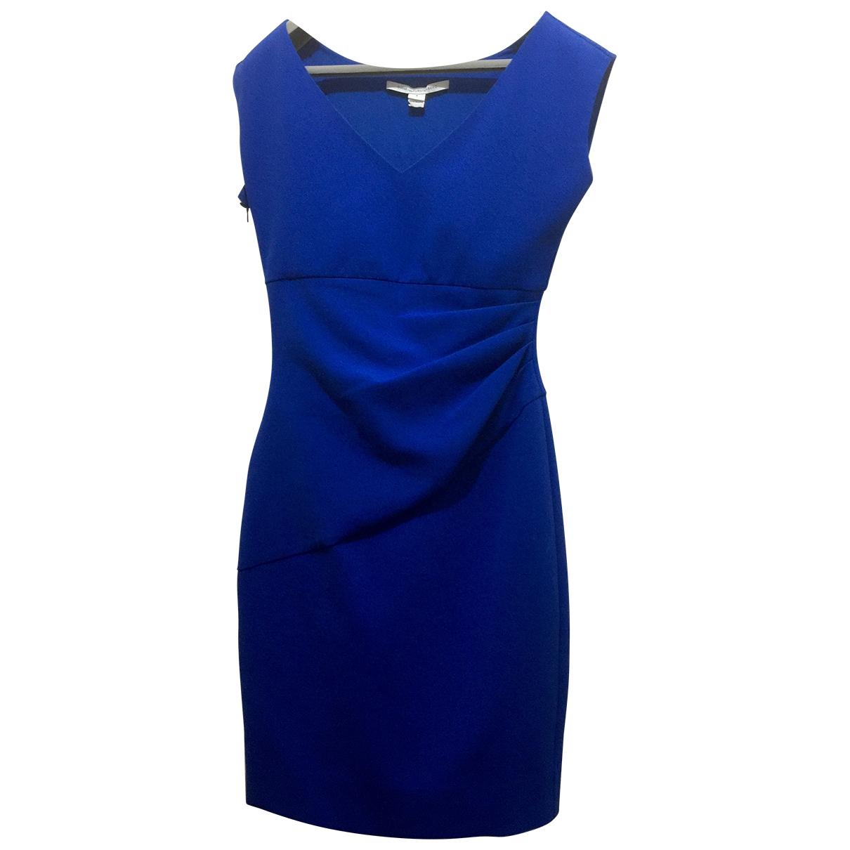 Diane Von Furstenberg \N Kleid in  Blau Polyester