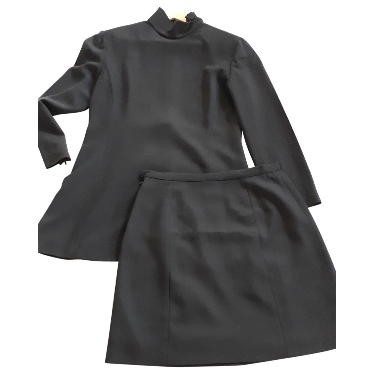 Emporio Armani \N Kleid in  Schwarz Viskose