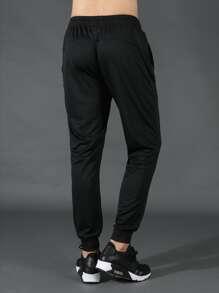 Men Stripe Print Sweatpants