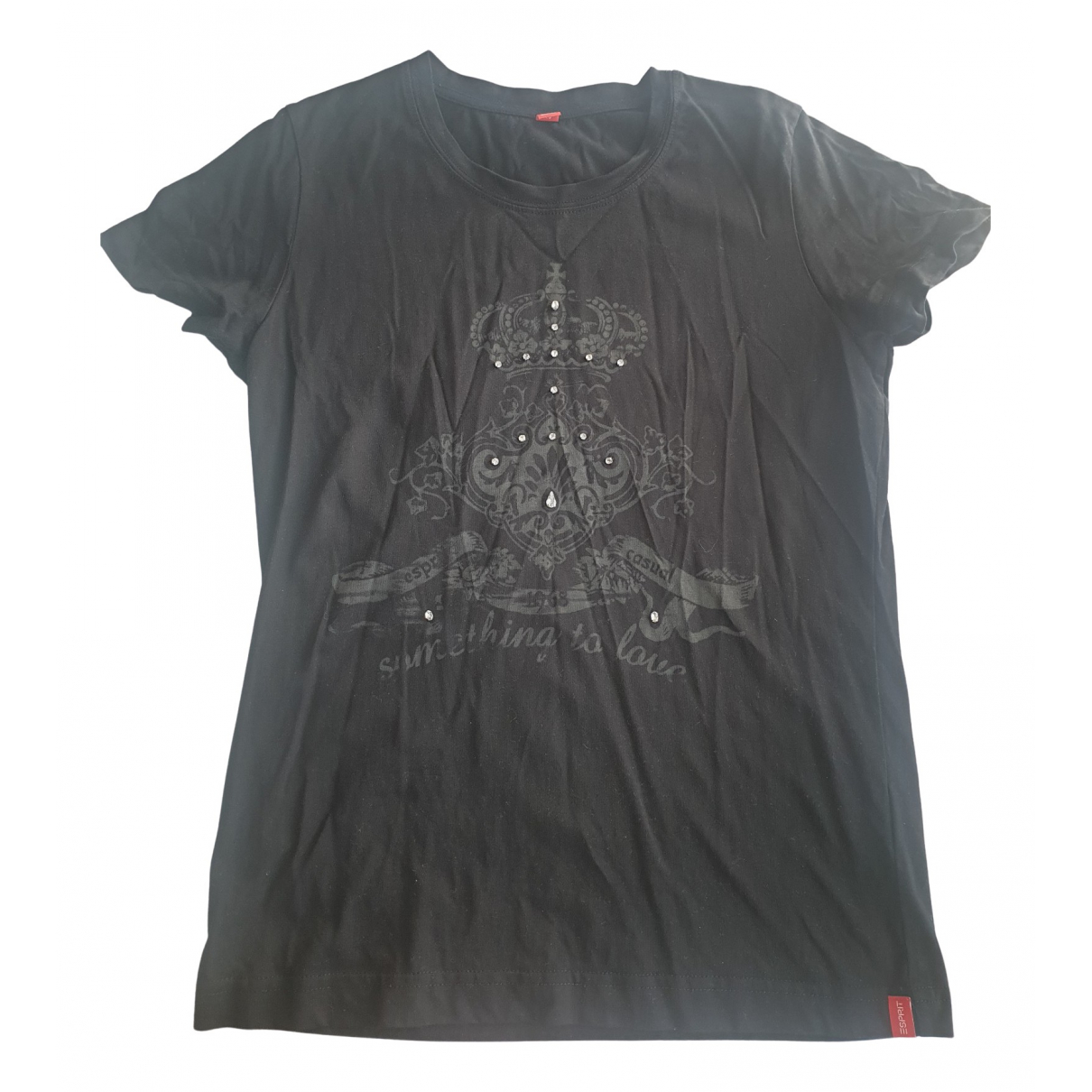 Esprit N Black Cotton  top for Women L International