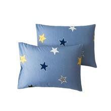 1 par funda de almohada con estampado de estrella sin relleno