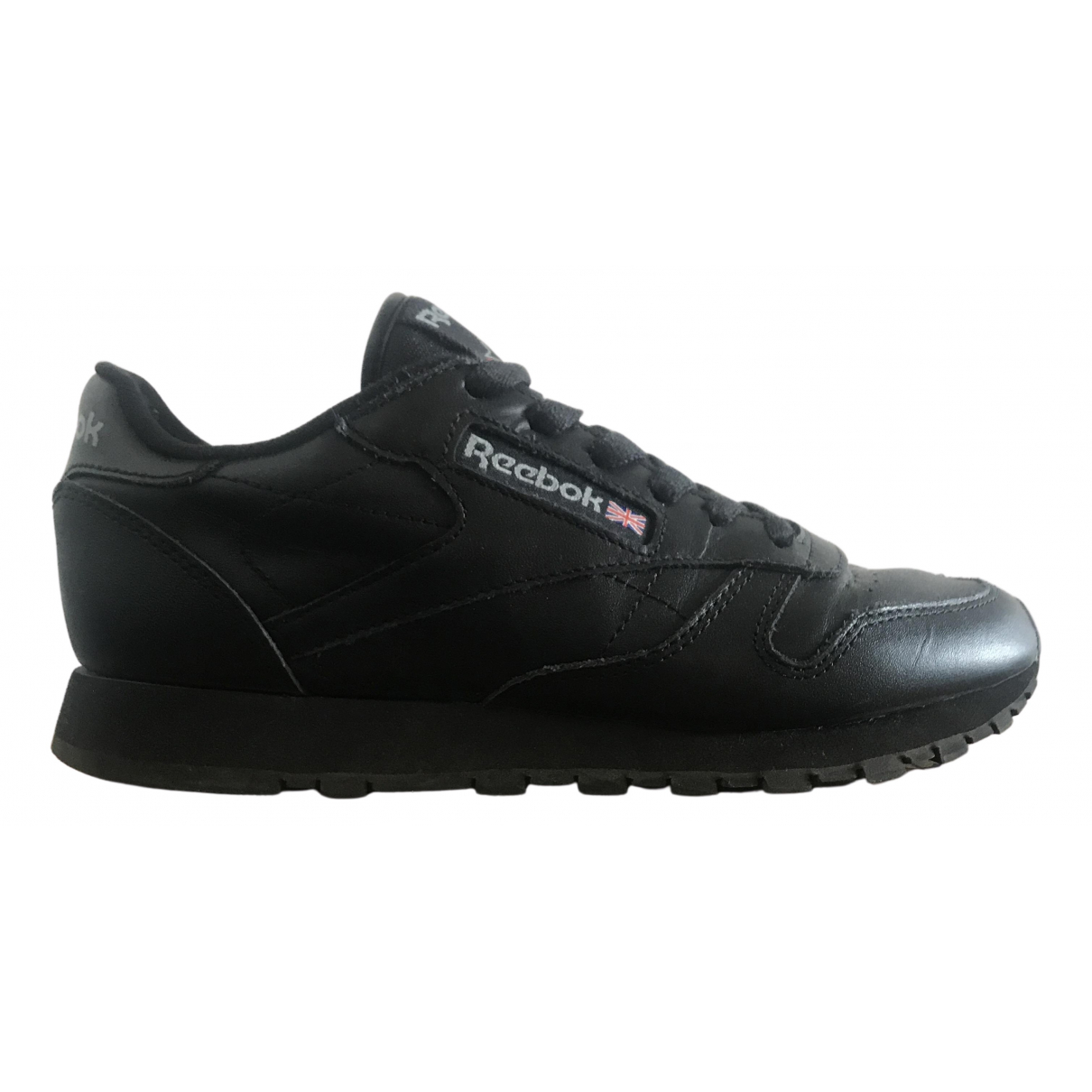 Reebok N Black Leather Trainers for Women 6.5 US
