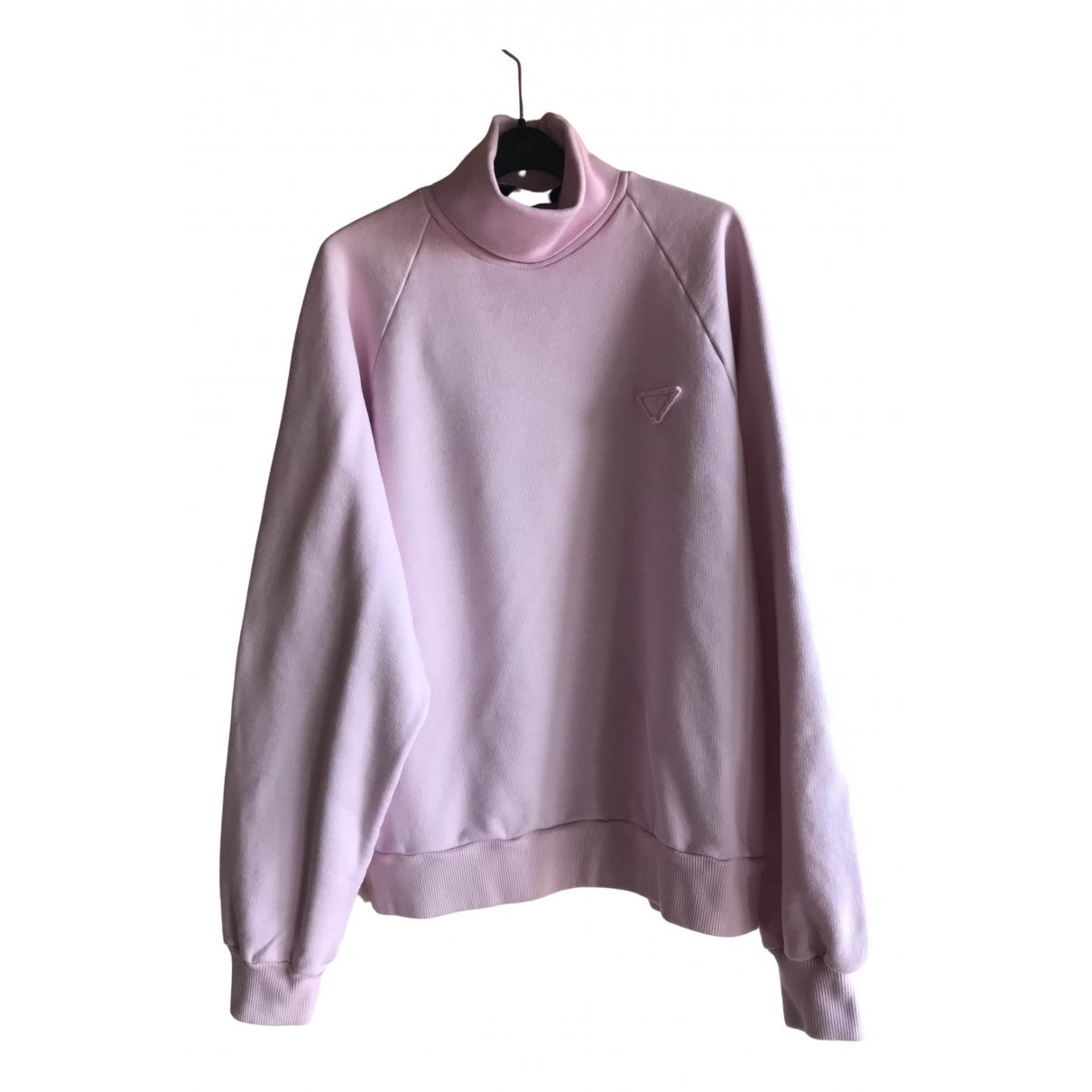 Prada \N Pullover.Westen.Sweatshirts  in  Rosa Baumwolle