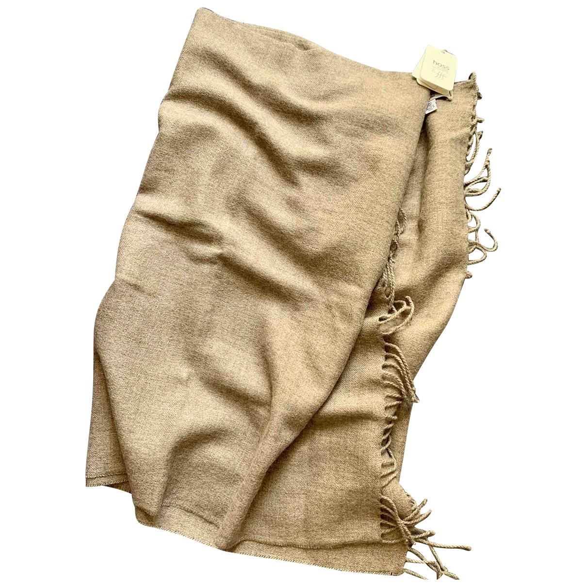 Hoss Intropia \N Schal in  Braun Wolle