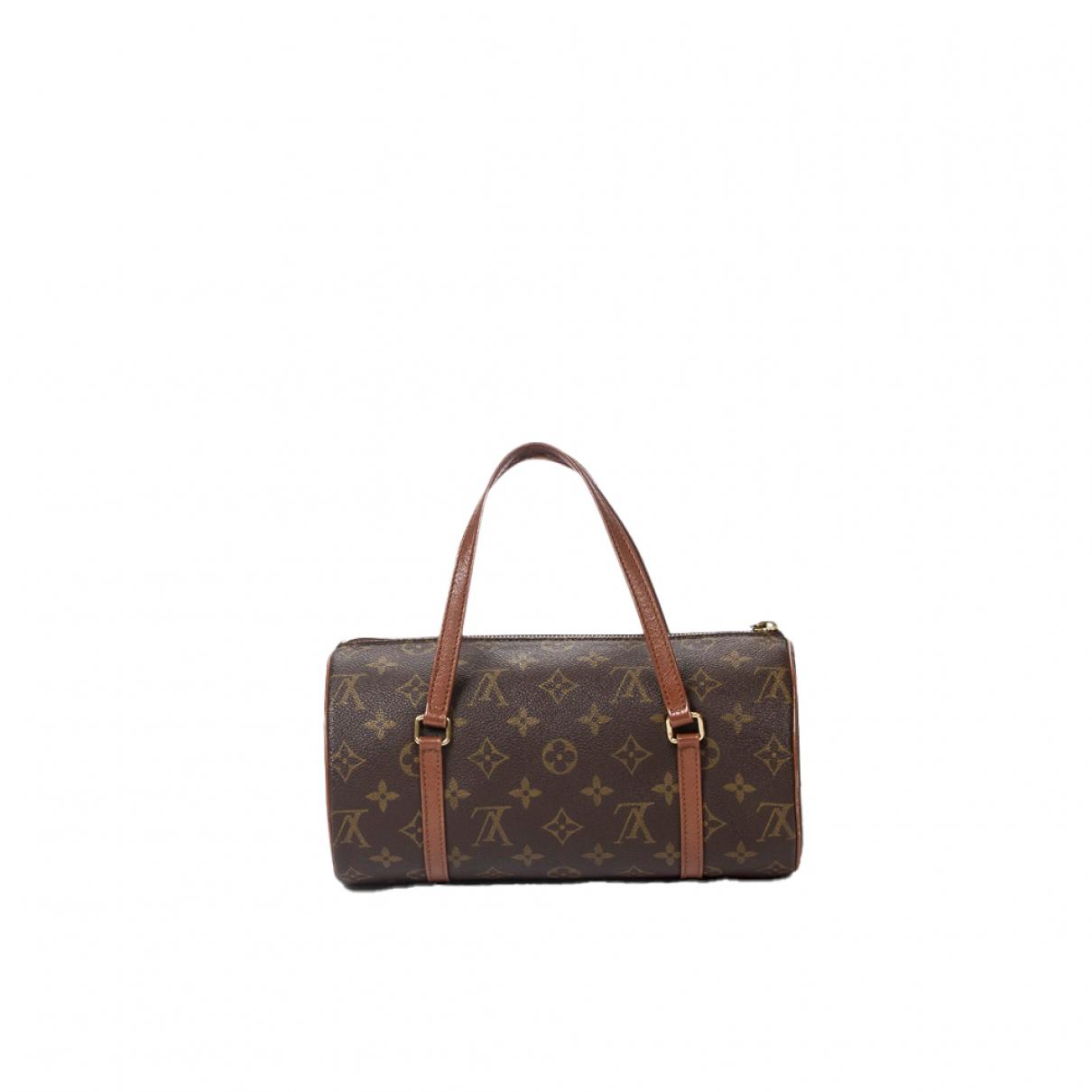 Louis Vuitton Papillon Handtasche in  Braun Baumwolle