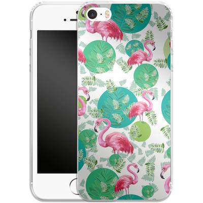 Apple iPhone 5s Silikon Handyhuelle - Flamingo Land von Mukta Lata Barua