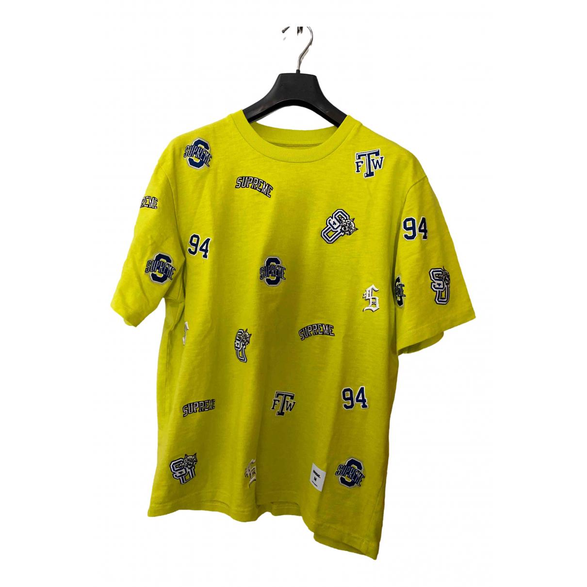 Supreme - Tee shirts   pour homme en coton - jaune