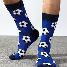 Men Football Pattern Socks