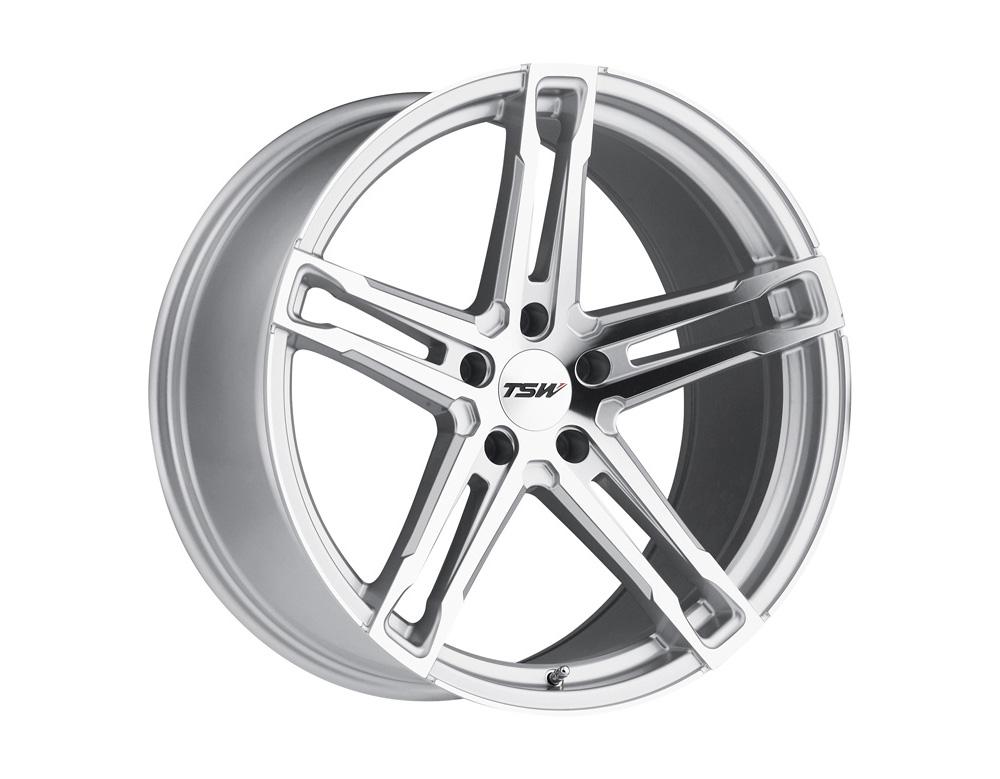 TSW Mechanica Wheel 17x8 5x112 32mm Silver w/ Mirror Cut Face