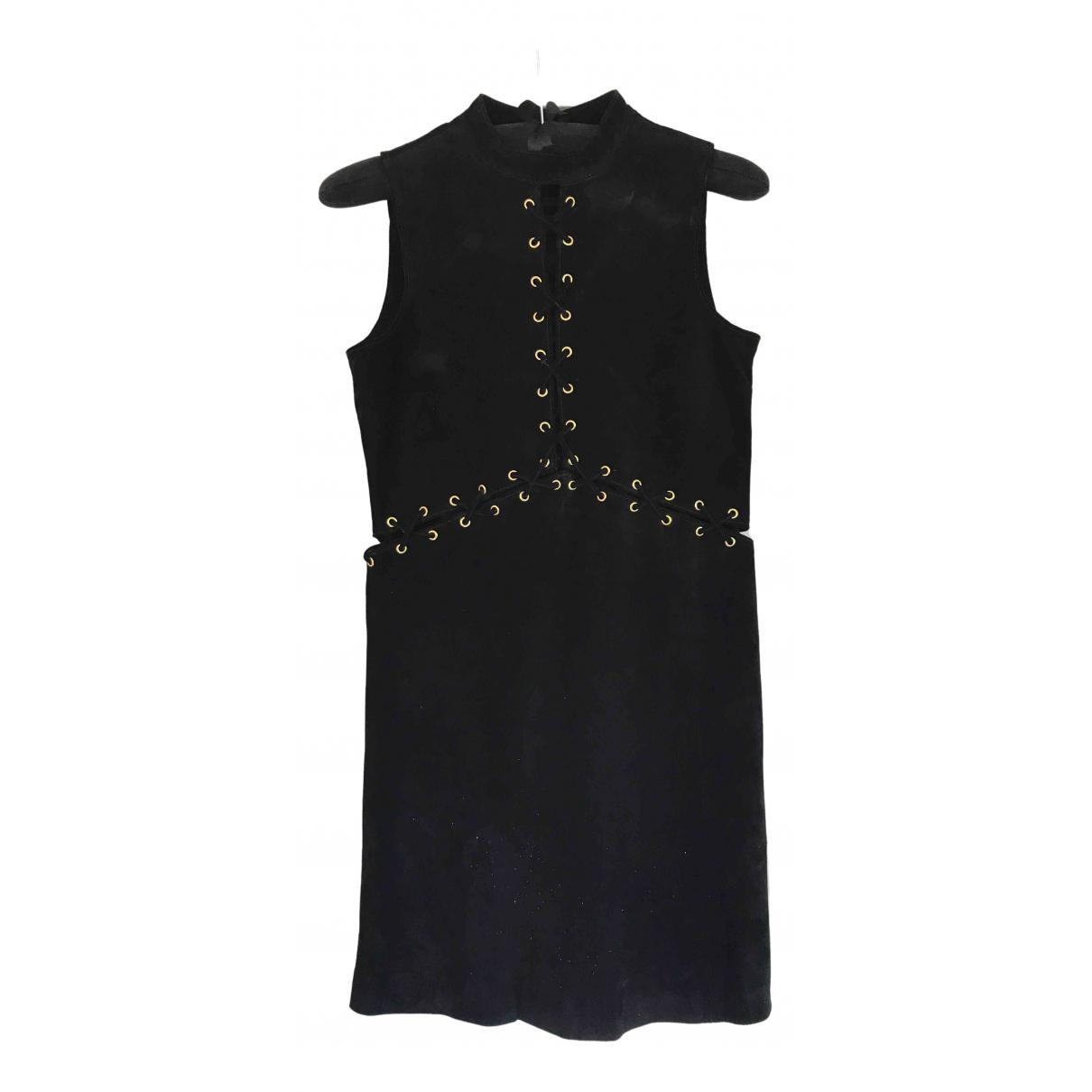 Asos \N Kleid in  Schwarz Veloursleder