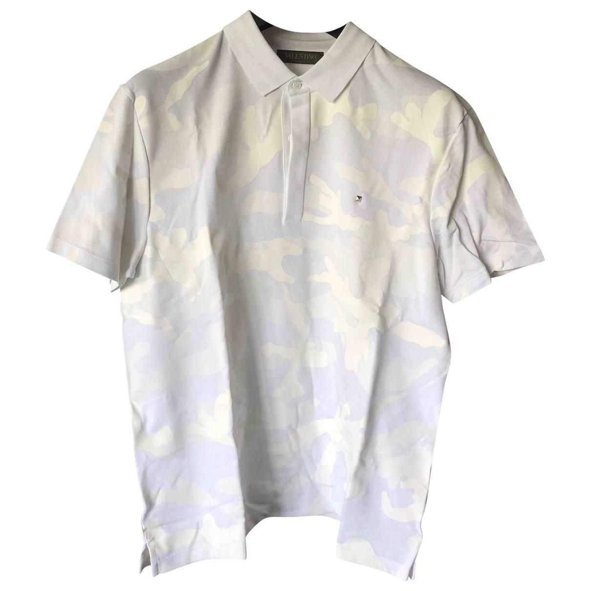 Valentino Garavani - Polos   pour homme en coton - blanc