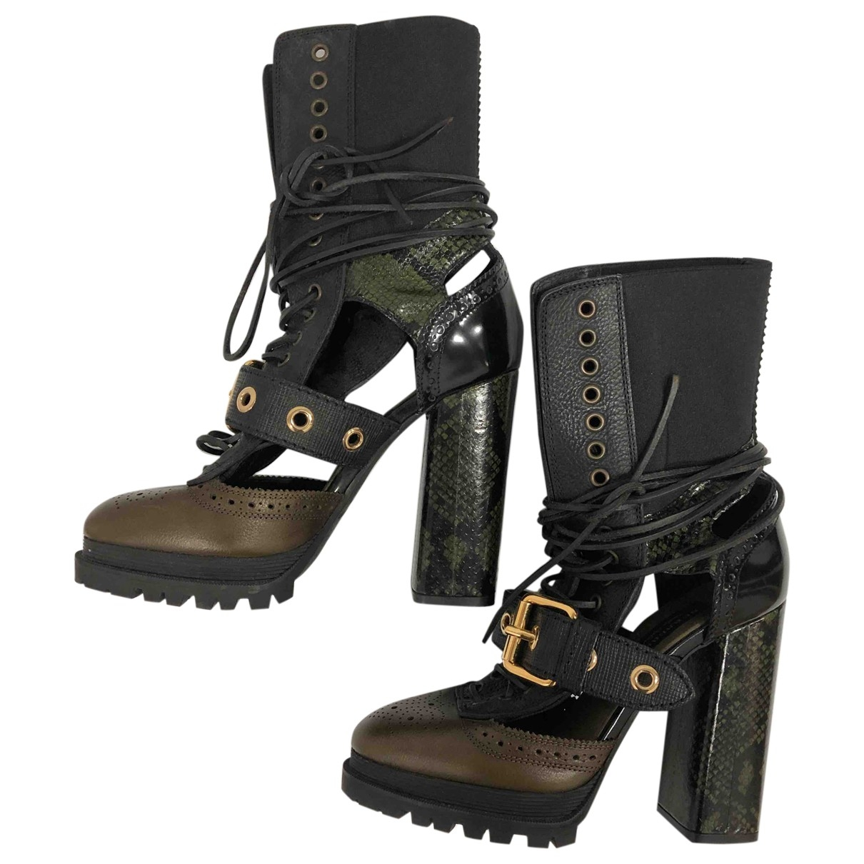 Burberry \N Black Leather Boots for Women 38 EU