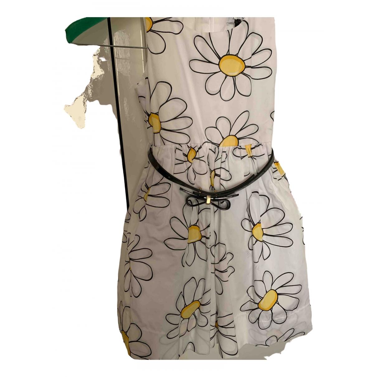 Monnalisa \N Kleid in  Weiss Baumwolle