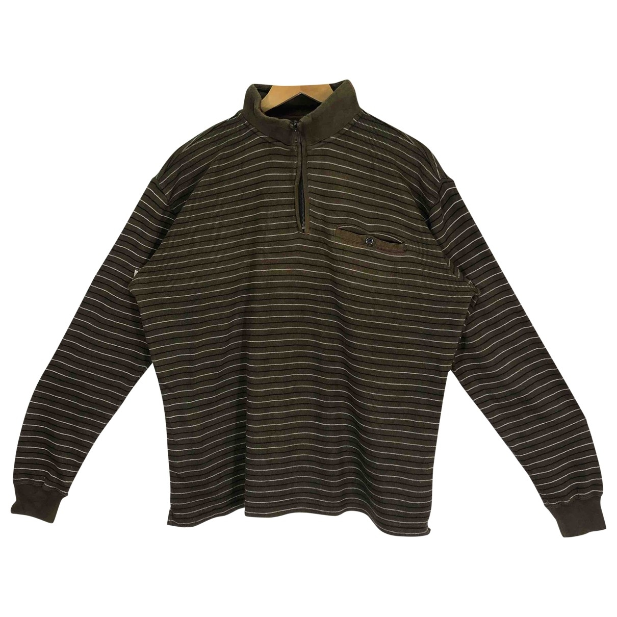 Yohji Yamamoto \N Pullover.Westen.Sweatshirts  in  Braun Baumwolle