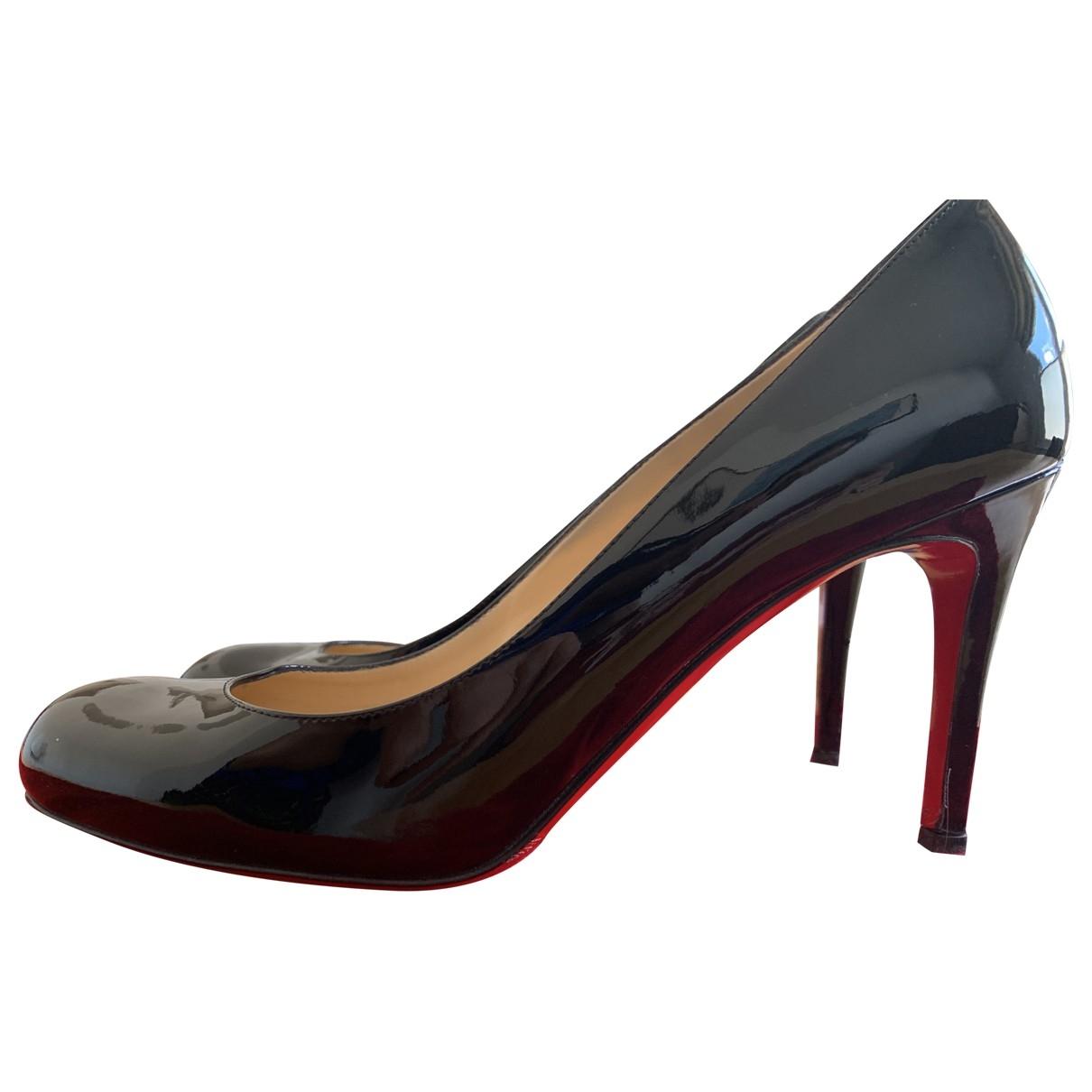 Christian Louboutin Simple pump Black Patent leather Heels for Women 38.5 EU