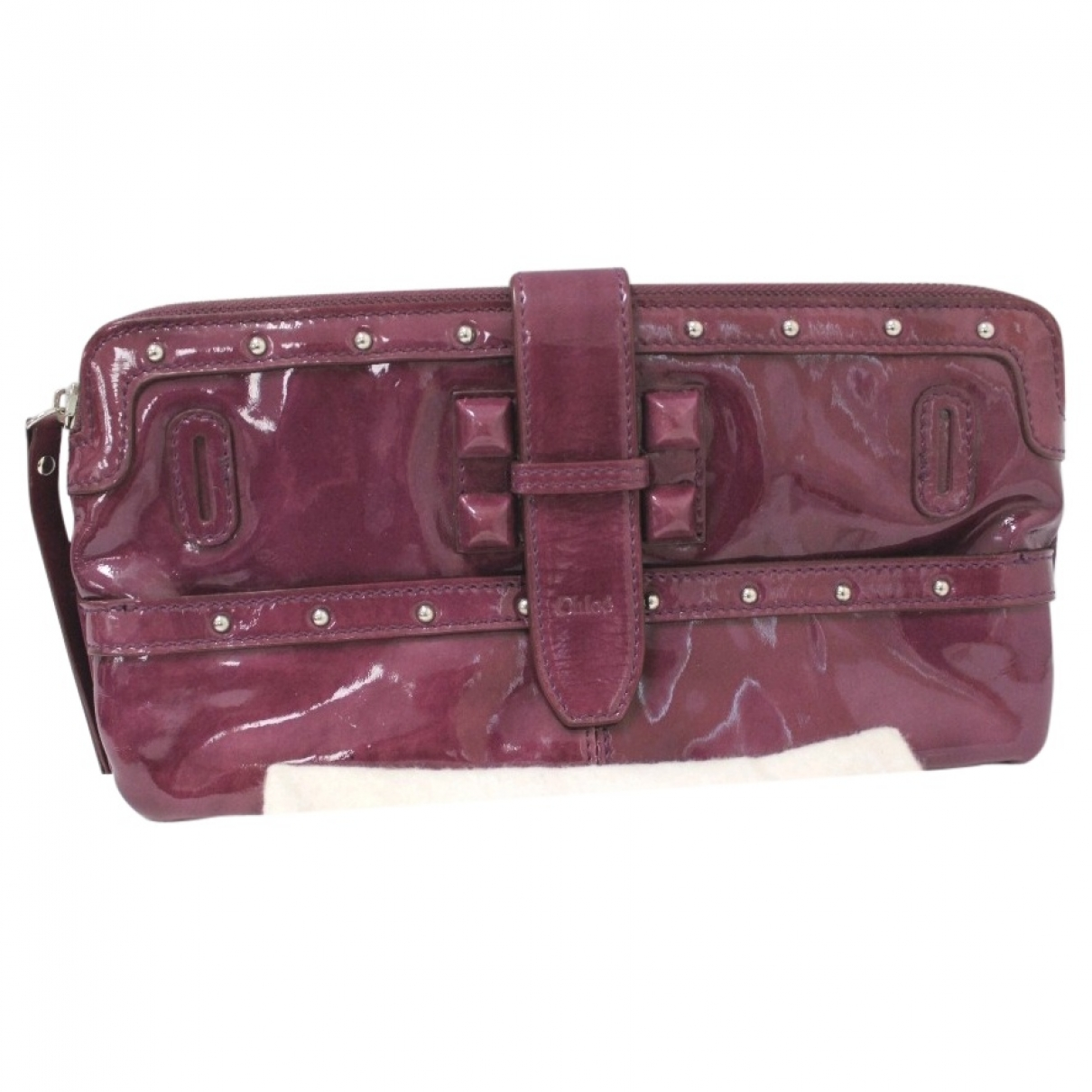 Chloé \N Purple Patent leather Clutch bag for Women \N