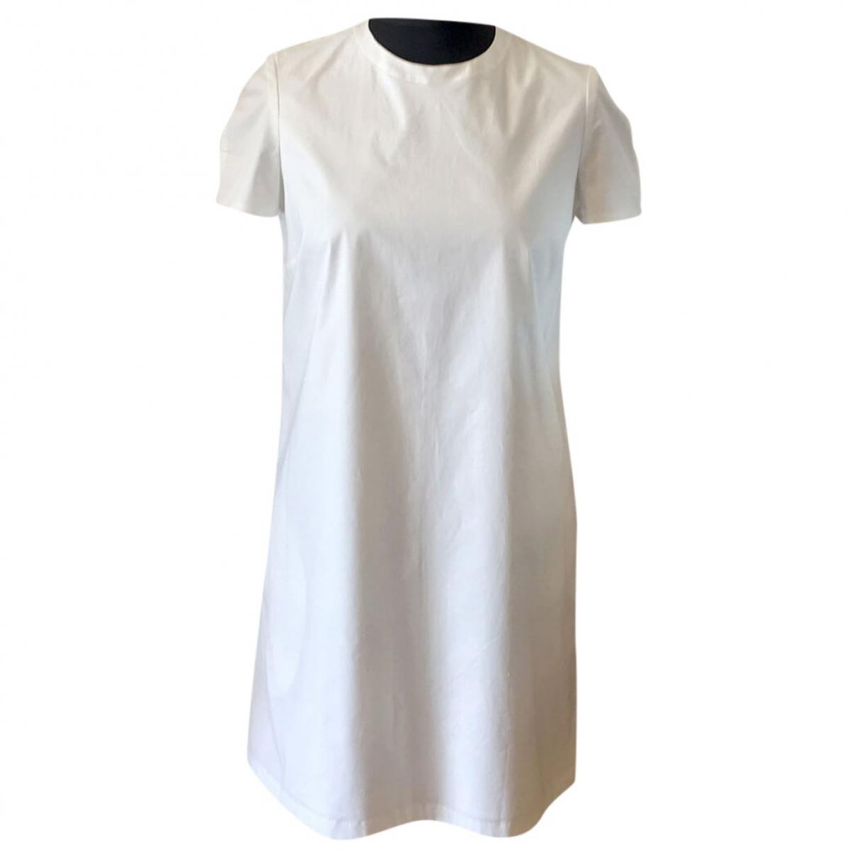 Joseph \N White Cotton - elasthane dress for Women 36 FR