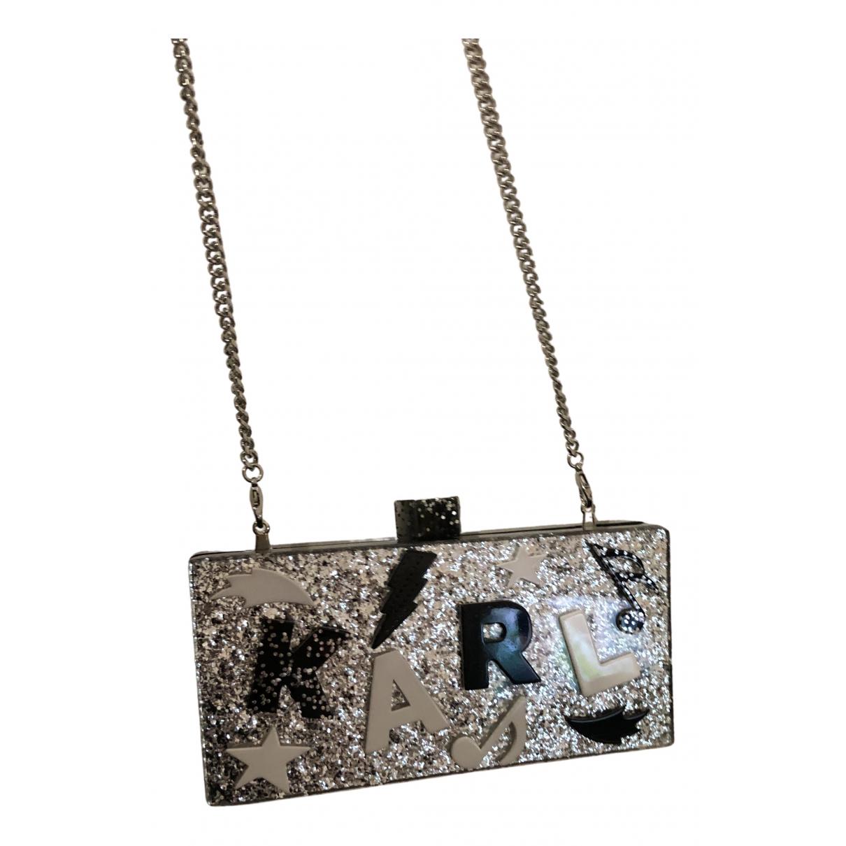 Karl Lagerfeld \N Clutch in  Silber Kunststoff