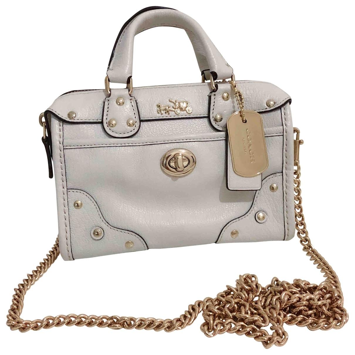 Coach \N White Leather handbag for Women \N