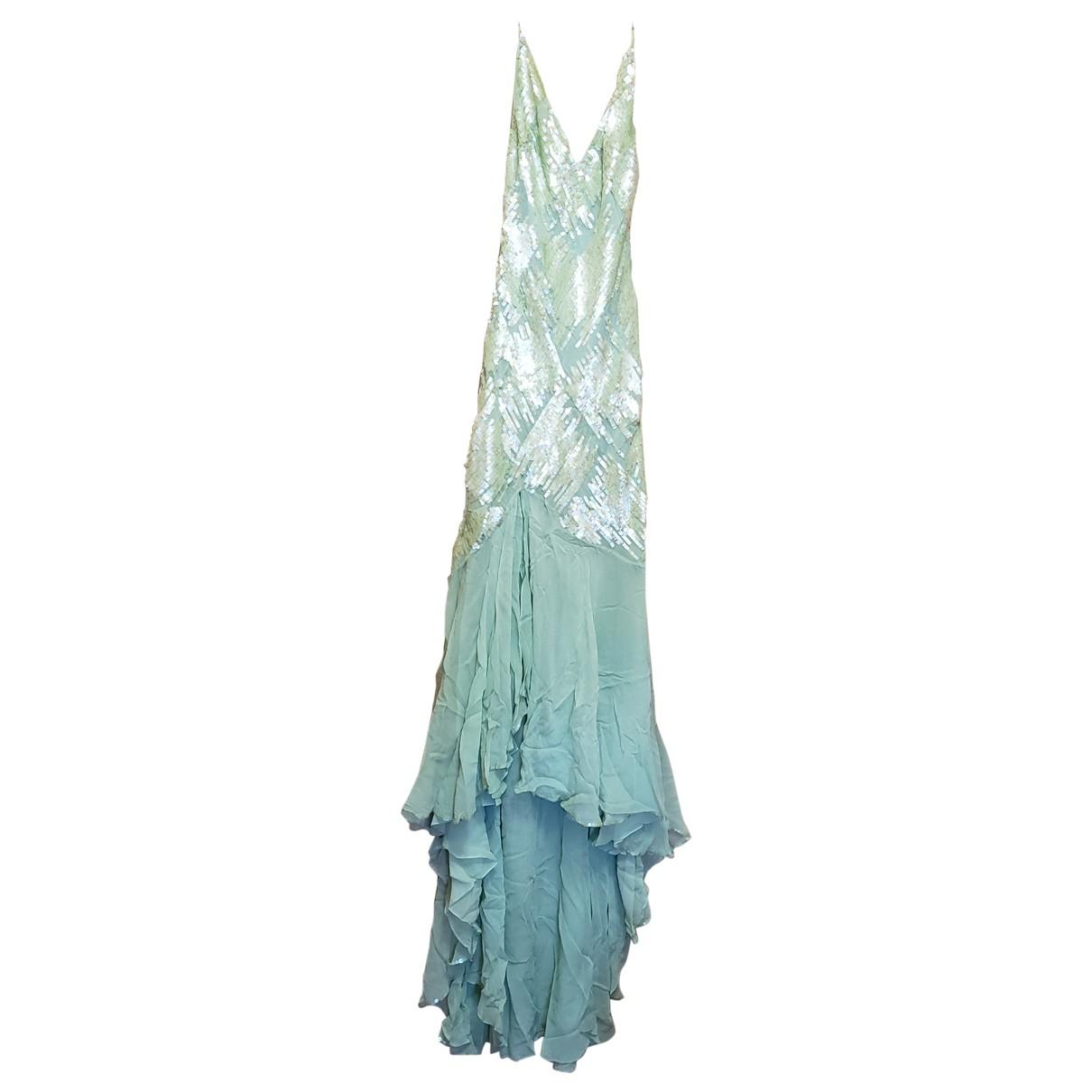 Jenny Packham \N Kleid in  Gruen Seide
