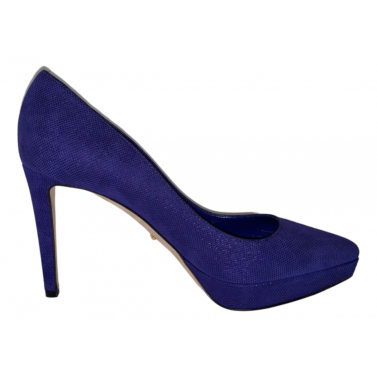 Sergio Rossi - Escarpins   pour femme en cuir - bleu