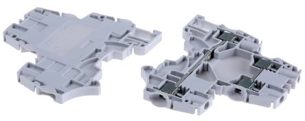 Entrelec , SNK, 800 V ac Double Level Terminal Block, Screw Termination, Grey (5)