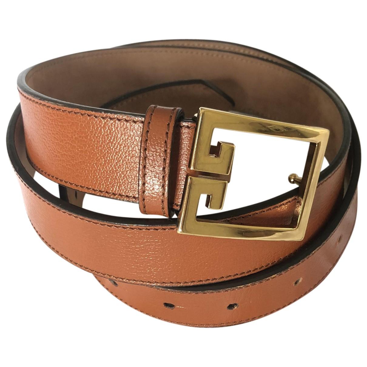 Givenchy N Brown Leather belt for Men 95 cm