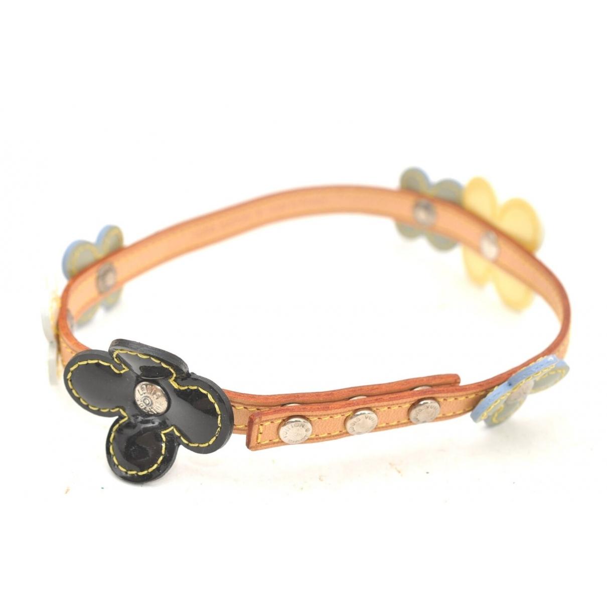 Louis Vuitton - Bracelet   pour femme en cuir verni - beige