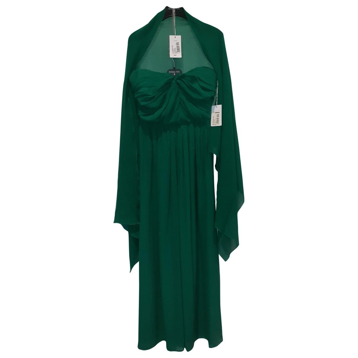 Patrizia Pepe \N Green Silk dress for Women 44 IT