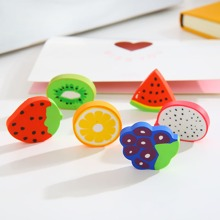 24pcs Fruit Shaped Eraser
