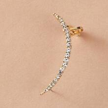 1pc Rhinestone Decor Ear Climber