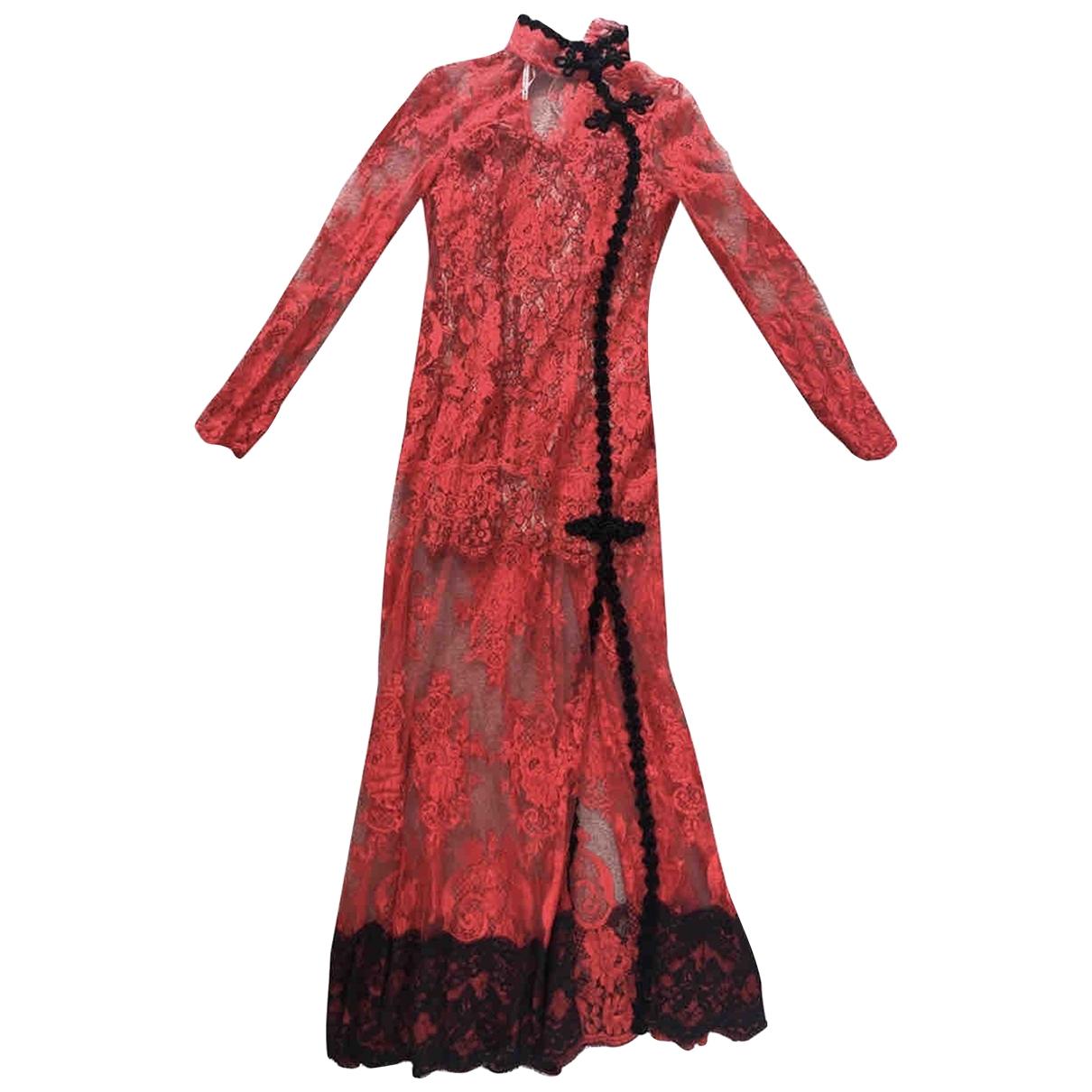 Alessandra Rich \N Kleid in  Rot Spitze