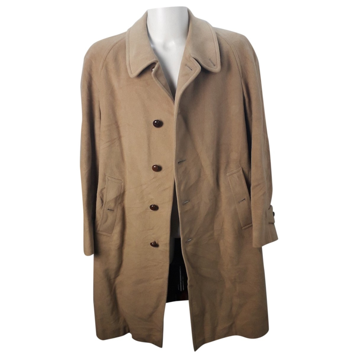 Burberry \N Camel Wool coat  for Men 50 IT