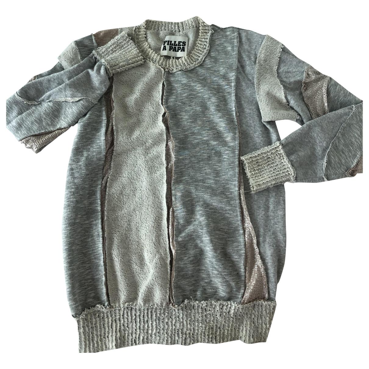 Filles A Papa \N Pullover in  Grau Baumwolle