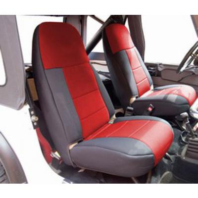 Coverking High Back Neoprene Front Seat Covers (Black/Red) - SPC218