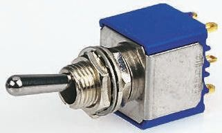 APEM DPST Toggle Switch, On-Off-On, Panel Mount