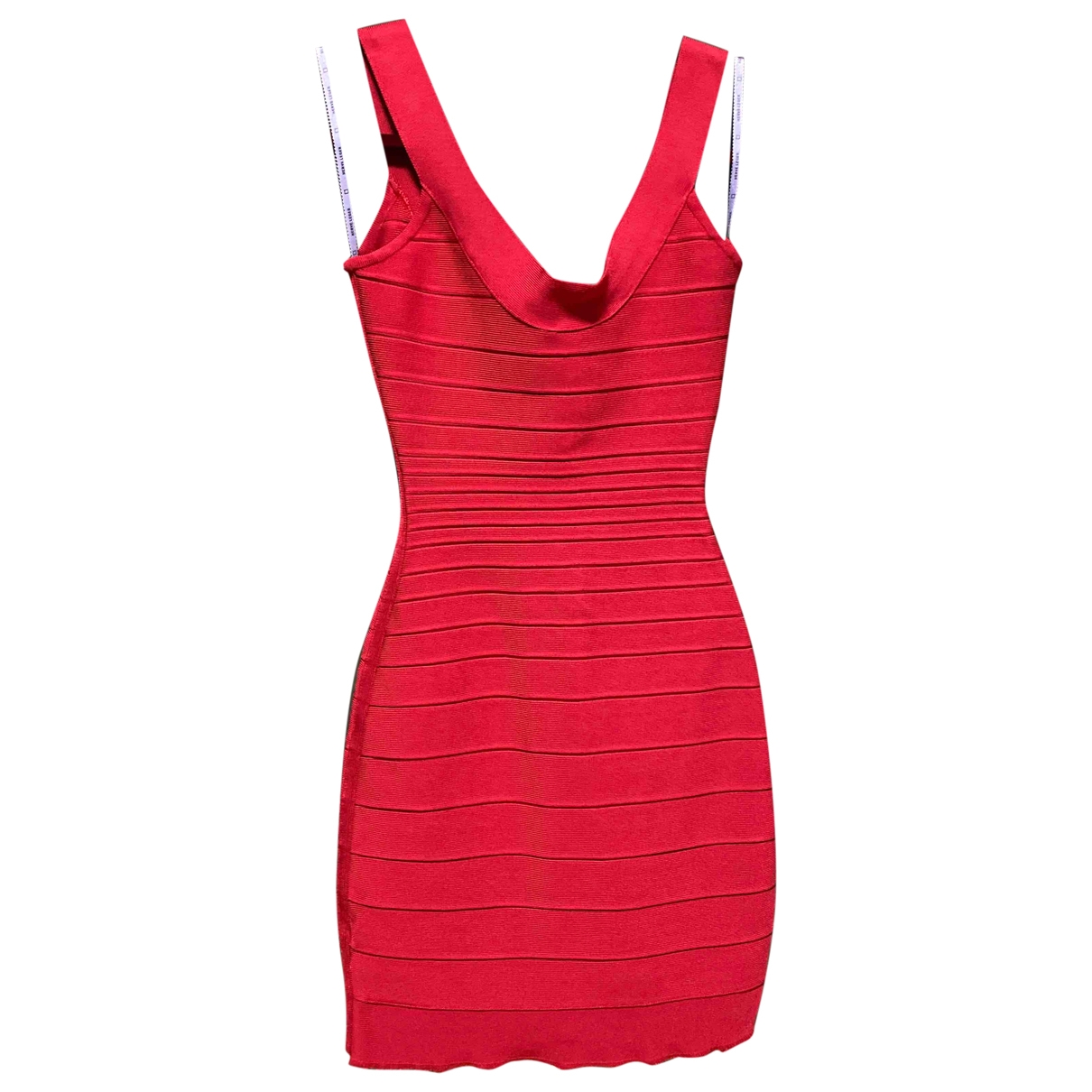 Herve Leger \N Kleid in  Rot Synthetik