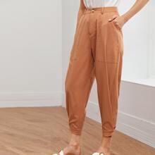Hose mit Reissverschluss und Taschen Flicken