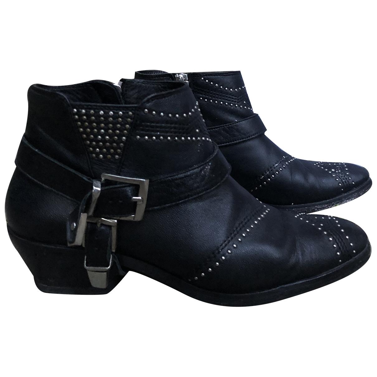 Anine Bing - Boots   pour femme en cuir - noir