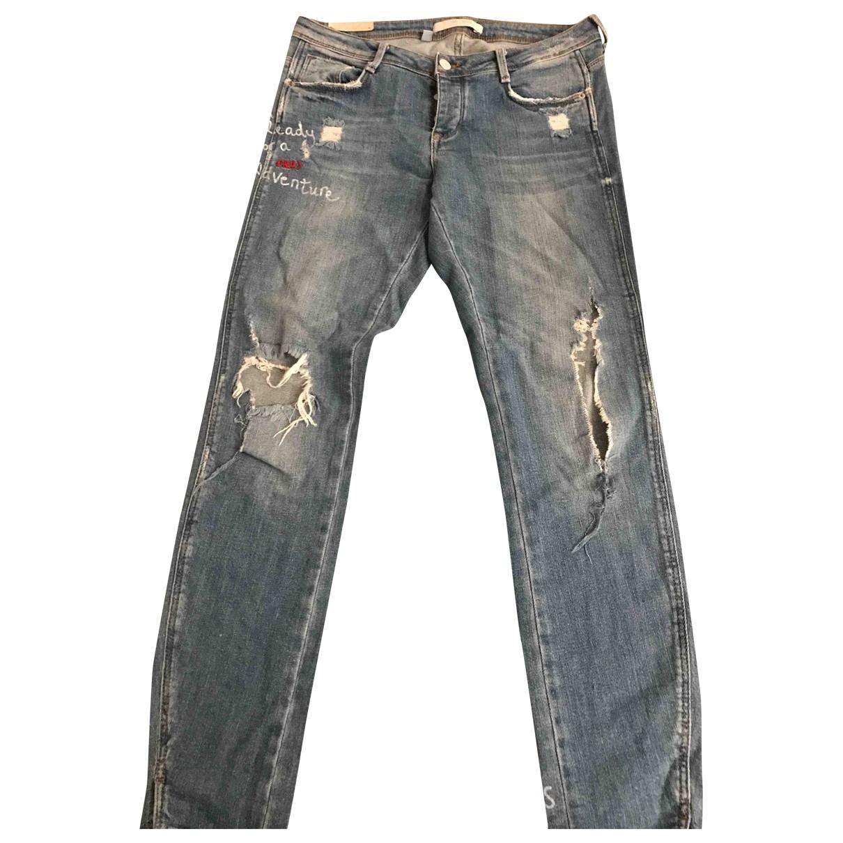 Zara \N Blue Denim - Jeans Jeans for Women 38 FR