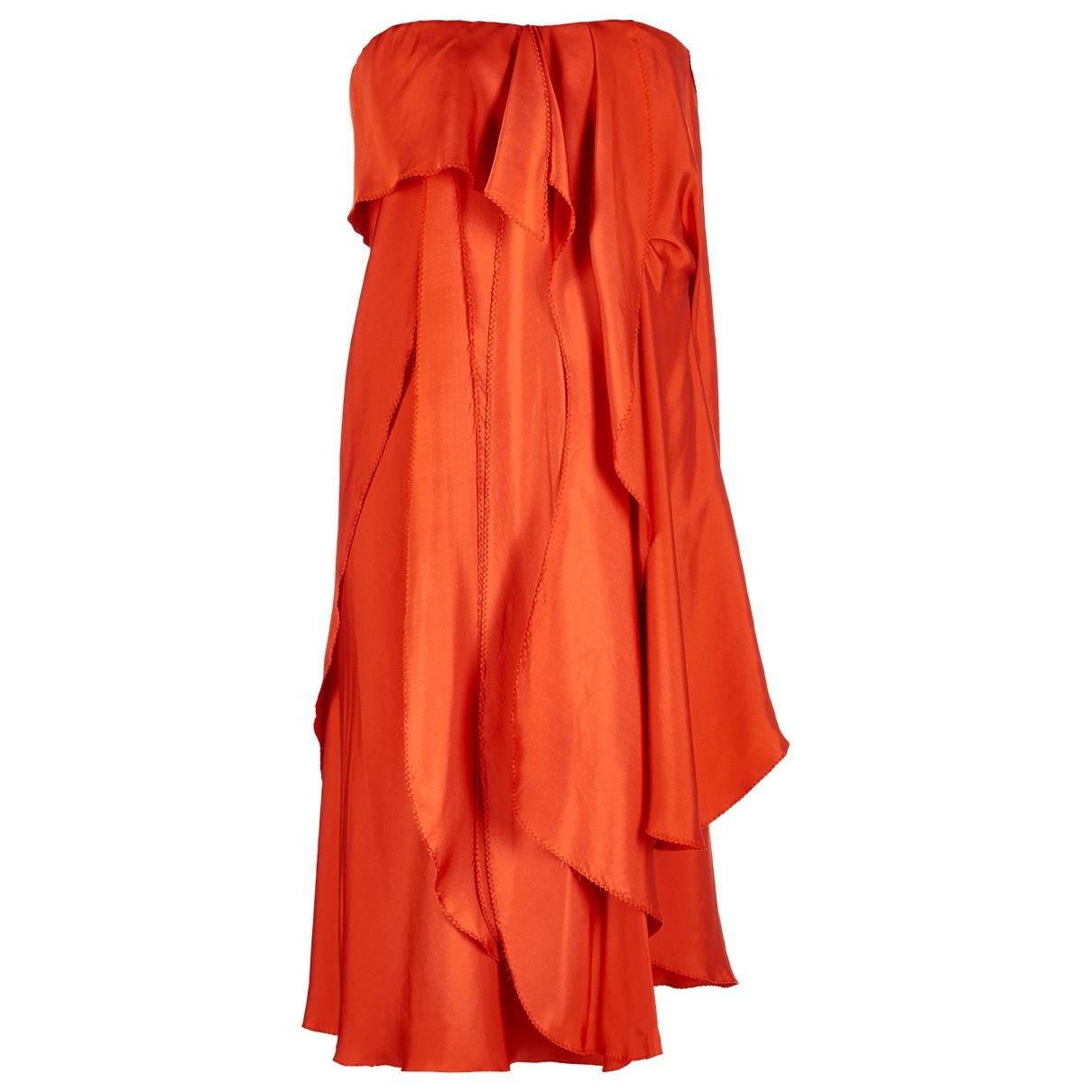 Bottega Veneta \N Kleid in  Orange Seide