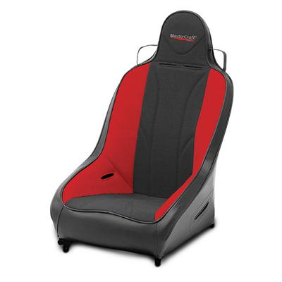 MasterCraft Safety Standard PRO 4 Seat with Fixed Headrest (Black/ Red) - 564012