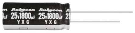 Rubycon 100μF Electrolytic Capacitor 50V dc, Through Hole - 50YXG100MEFC10X12.5 (25)