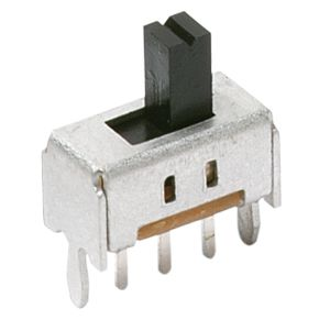 C & K Through Hole Slide Switch Single Pole Double Throw (SPDT) Latching 100 mA Slide (10)