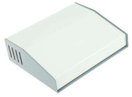 Hammond 515, Sloped Front, Aluminium, Steel, 193 x 159 x 58mm Desktop Enclosure, Grey