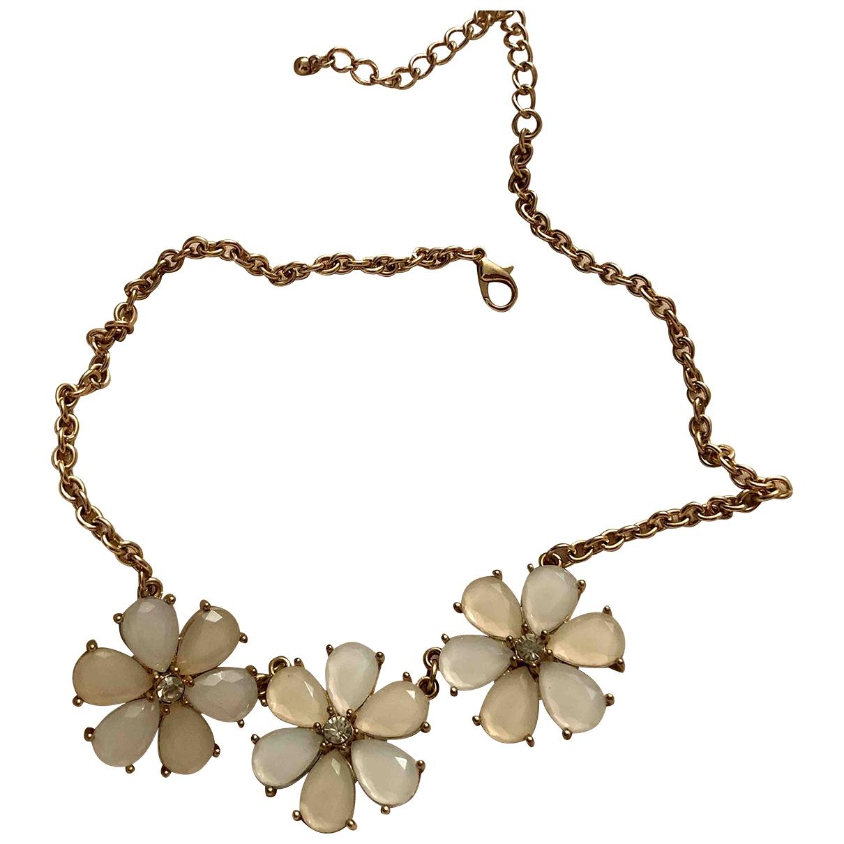 Collar Motifs Floraux de Cristal Non Signe / Unsigned
