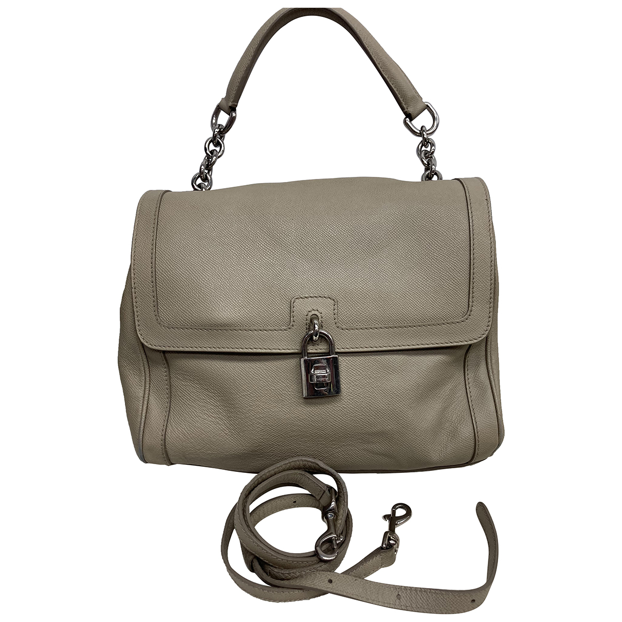 Dolce & Gabbana \N Beige Leather handbag for Women \N