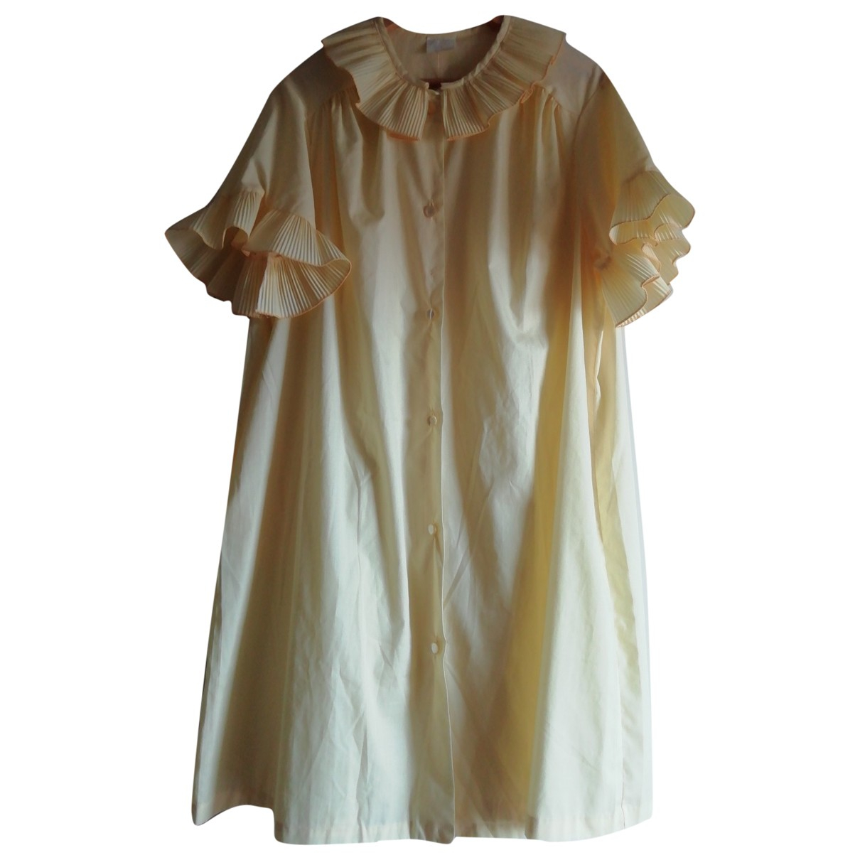 Non Signé / Unsigned \N Yellow Cotton - elasthane dress for Women One Size IT