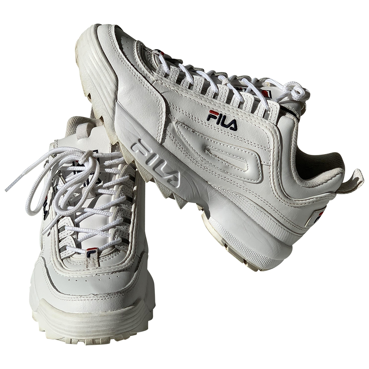 Fila \N White Leather Trainers for Women 39.5 EU