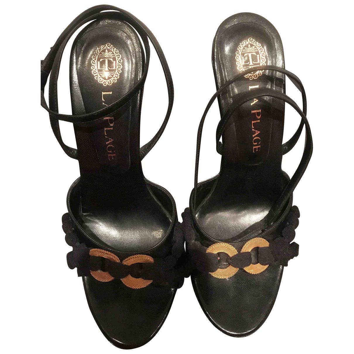 - Escarpins   pour femme en cuir verni - noir